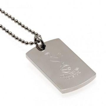 Tottenham Hotspur Dog Tag & Chain with Engraved Crest